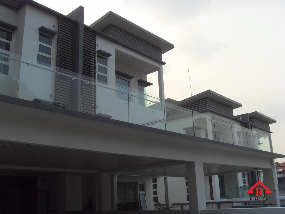 Reliance Home balcony glass U-channel type-40