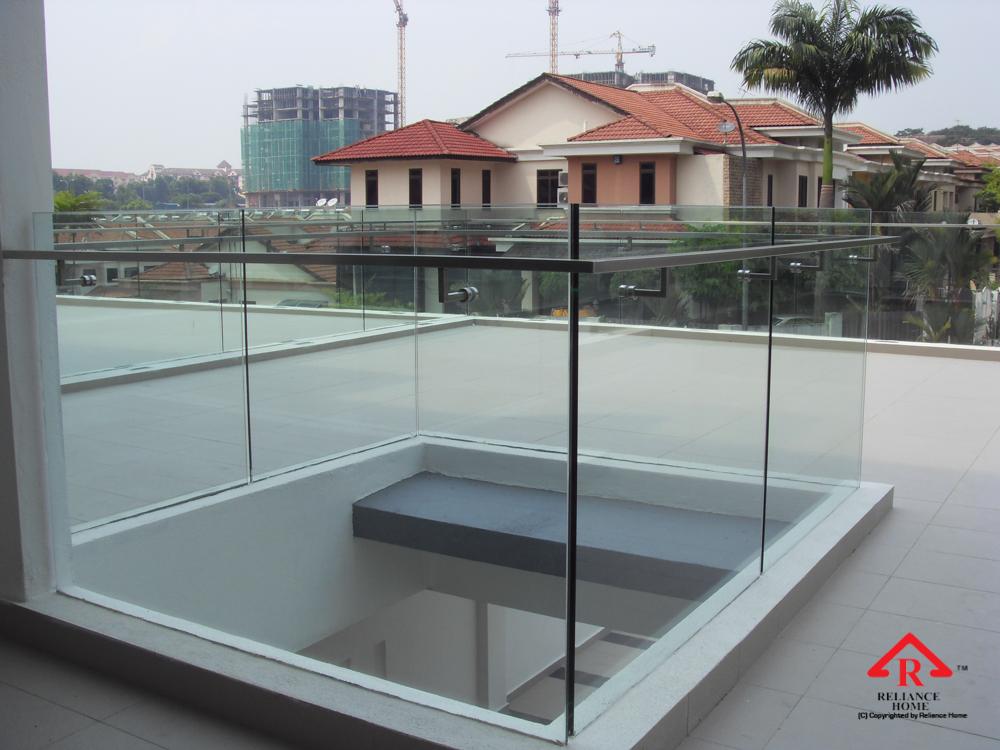 Reliance Home balcony glass U-channel type-41