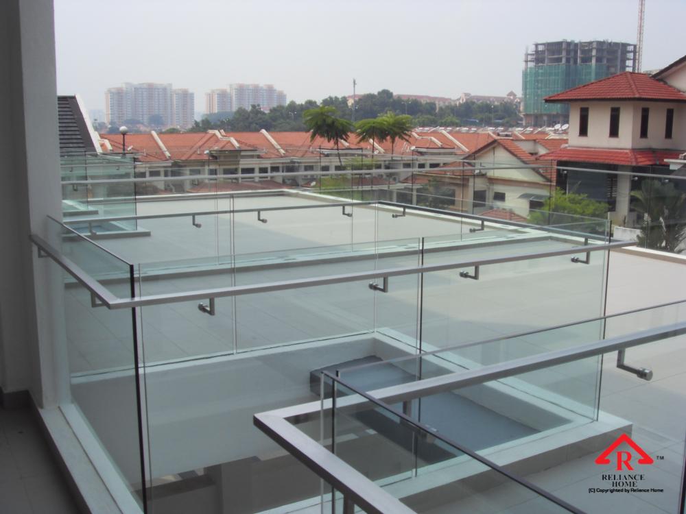 Reliance Home balcony glass U-channel type-42