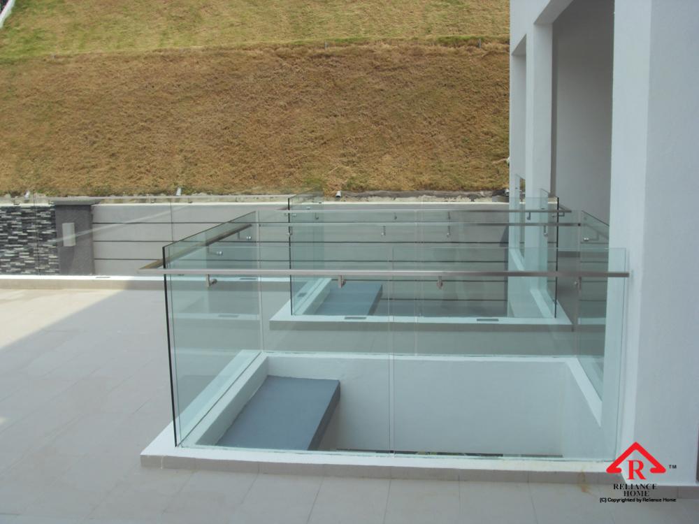 Reliance Home balcony glass U-channel type-43