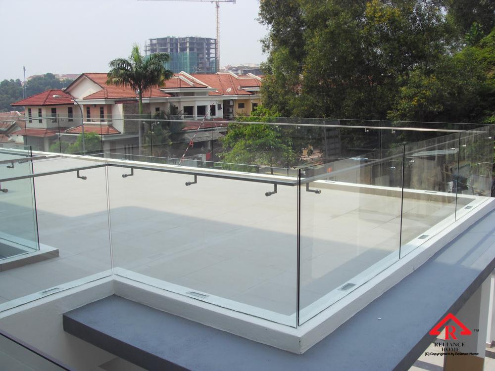 Reliance Home balcony glass U-channel type-44