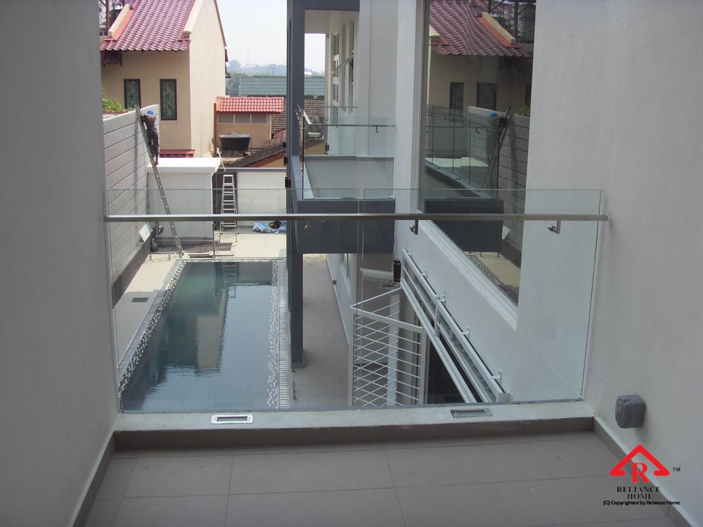 Reliance Home balcony glass U-channel type-45