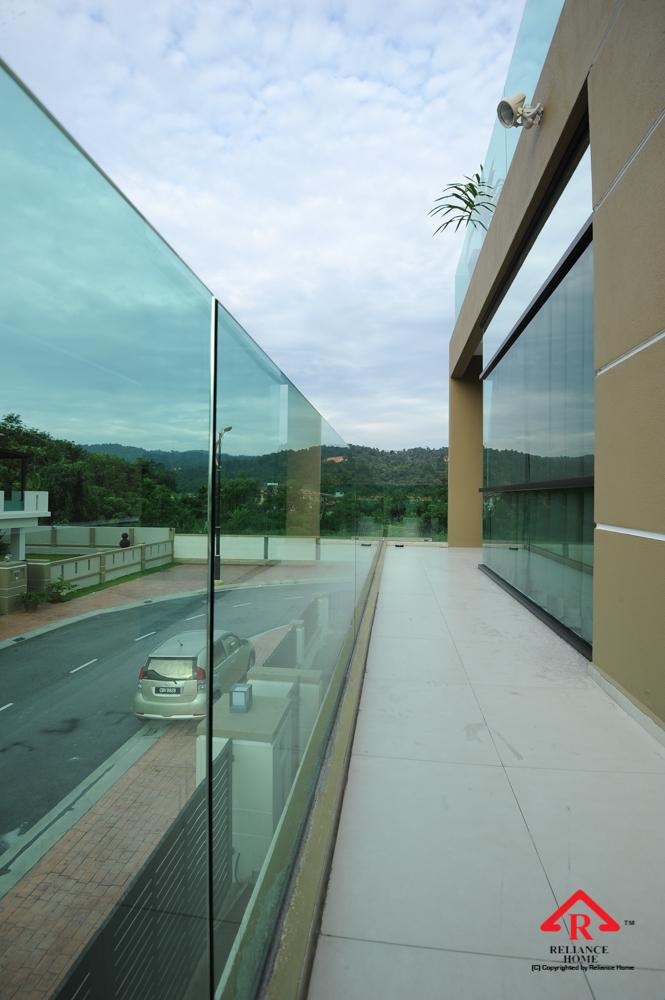 Reliance Home balcony glass U-channel type-54