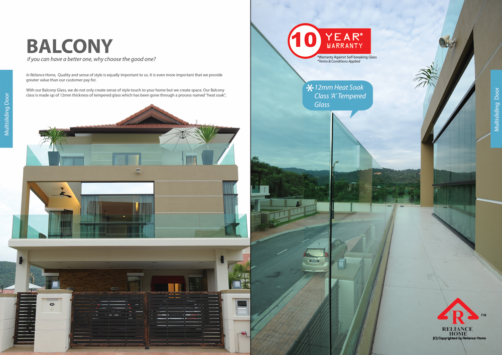 Reliance Home balcony glass U-channel type-56