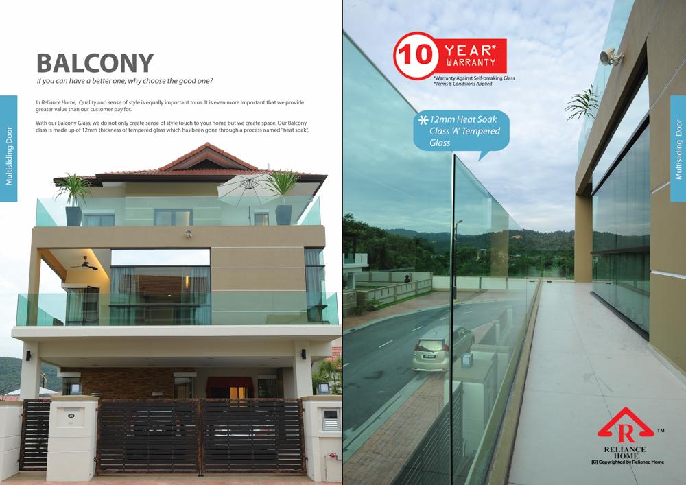 Reliance Home balcony glass U-channel type-57