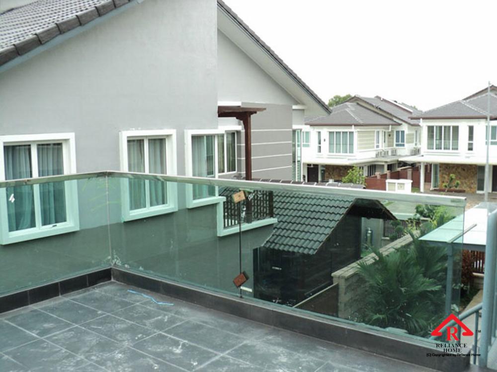Reliance Home balcony glass U-channel type-59