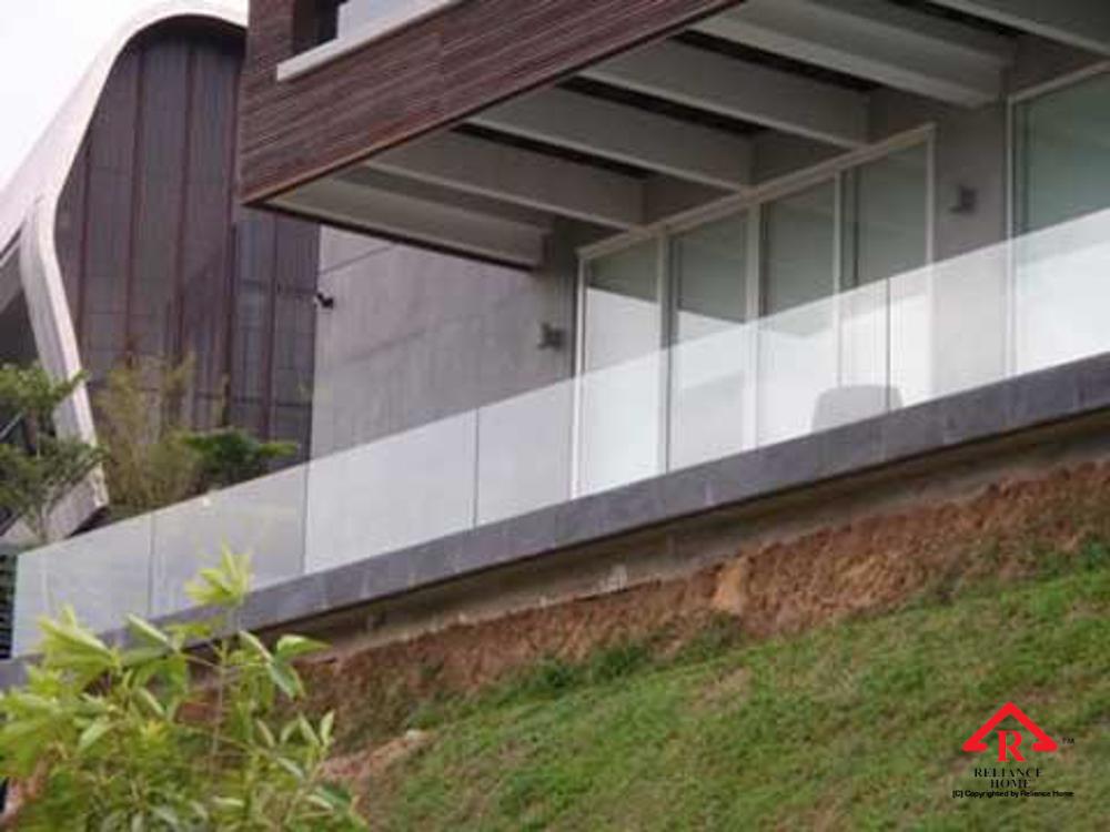 Reliance Home balcony glass U-channel type-92
