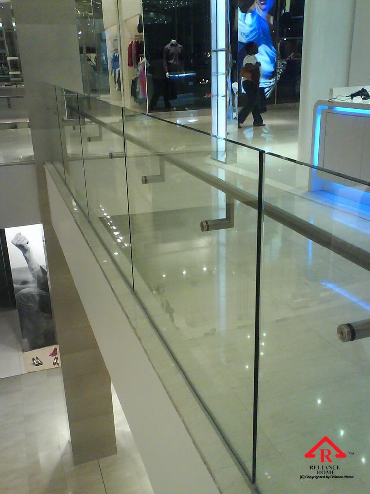 Reliance Home balcony glass U-channel type