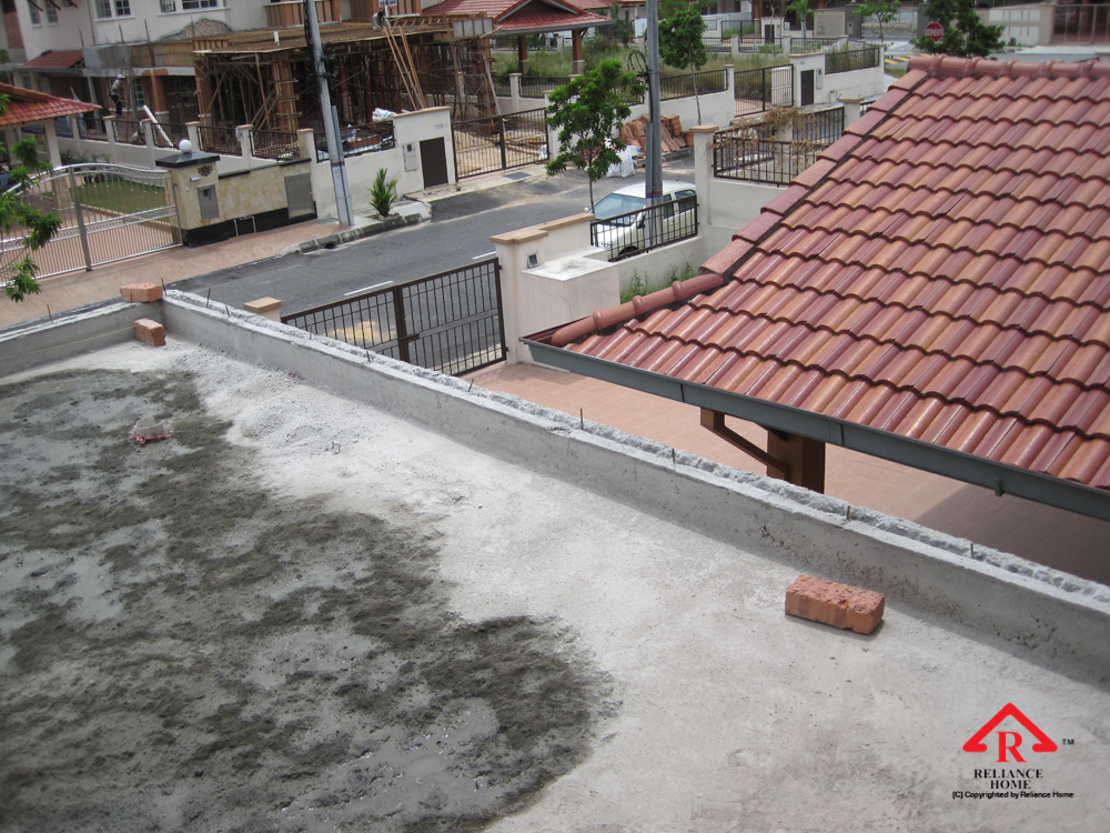 Reliance Home balcony under construction-2