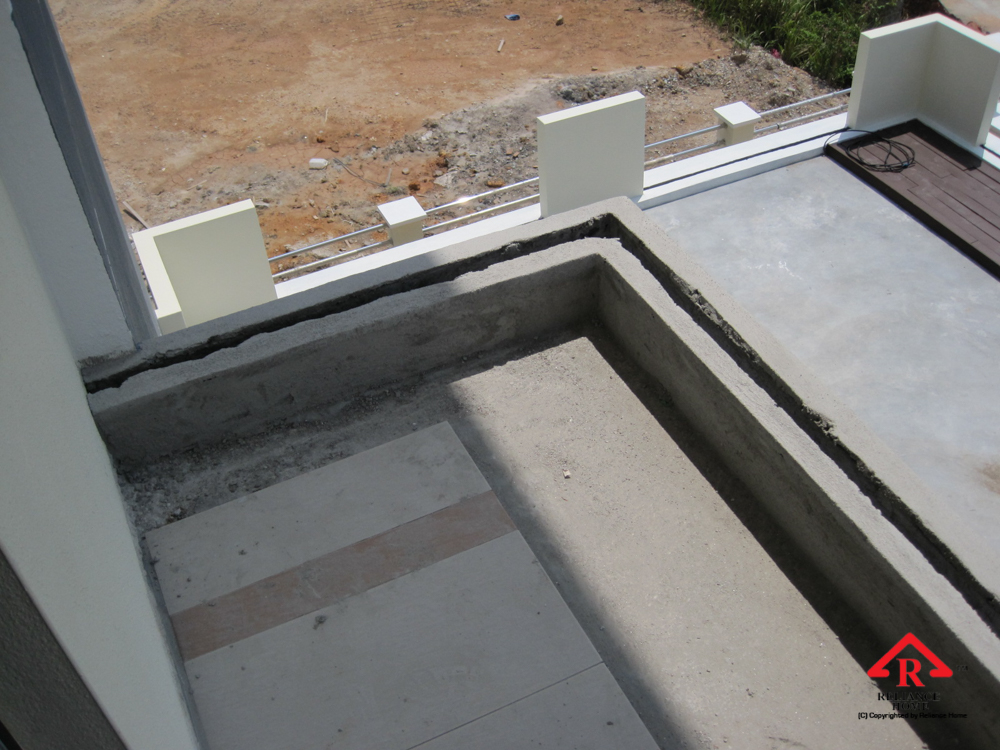 Reliance Home balcony under construction-4