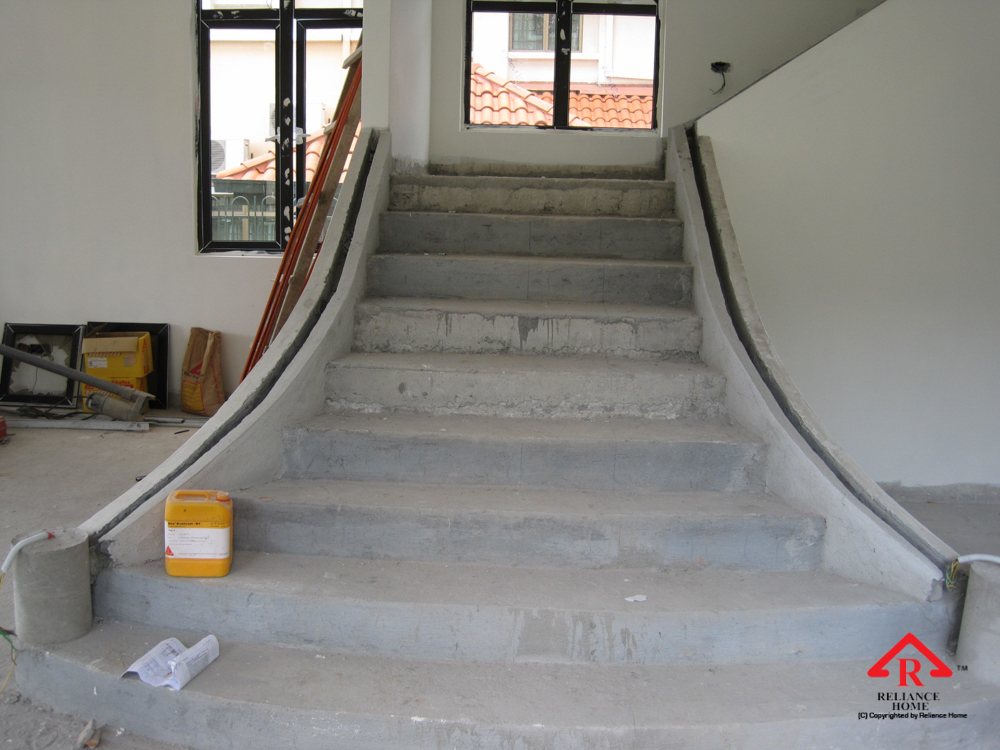 Reliance Home staircase glass under construction photos-11