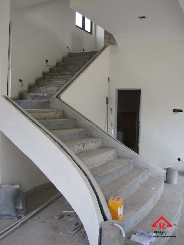 Reliance Home staircase glass under construction photos-12