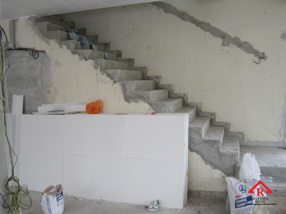 Reliance Home staircase glass under construction photos-13