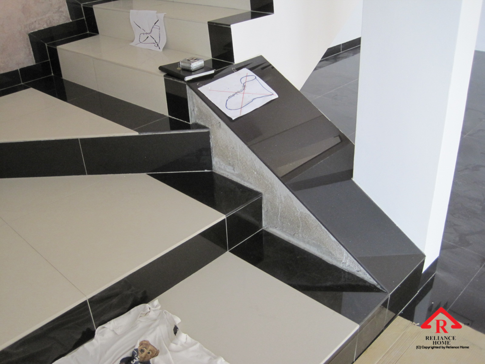 Reliance Home staircase glass under construction photos-16
