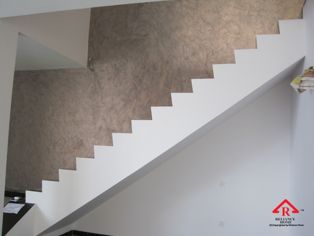 Reliance Home staircase glass under construction photos-17