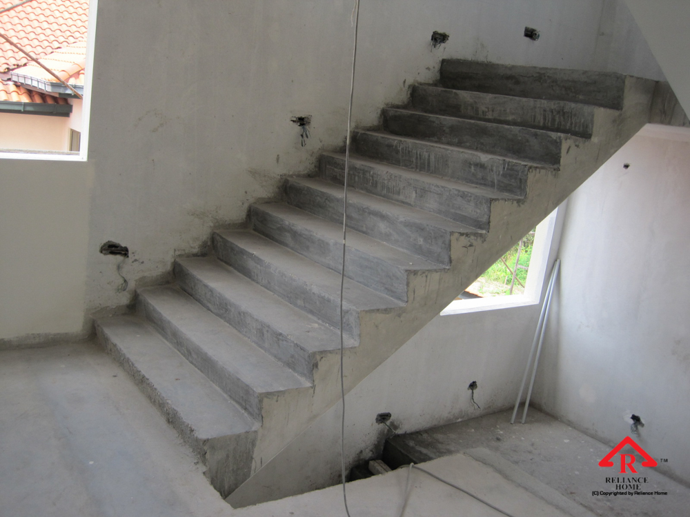 Reliance Home staircase glass under construction photos-2