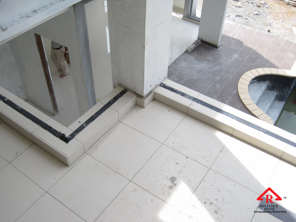 Reliance Home staircase glass under construction photos-23