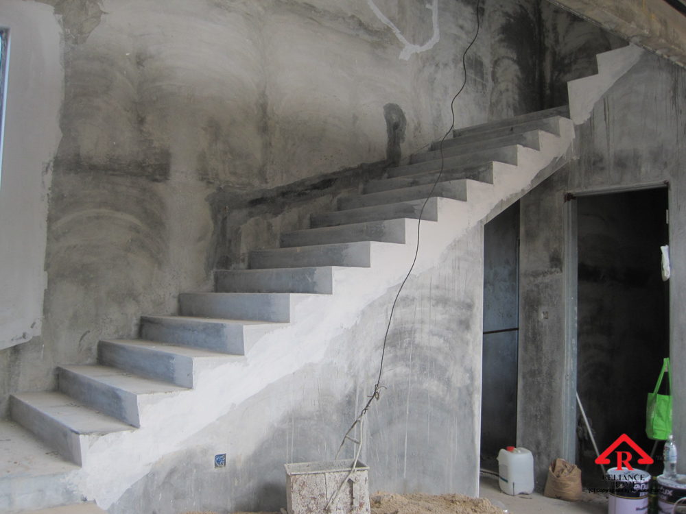 Reliance Home staircase glass under construction photos-27
