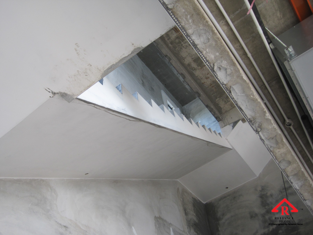 Reliance Home staircase glass under construction photos-28