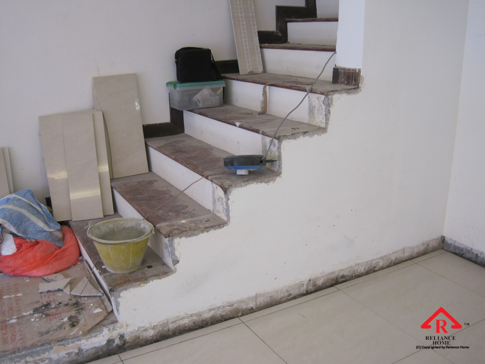 Reliance Home staircase glass under construction photos-29