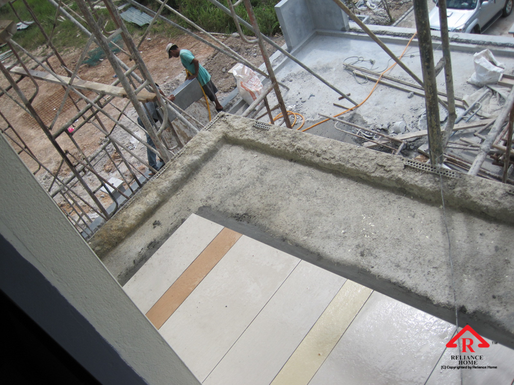 Reliance Home staircase glass under construction photos-3