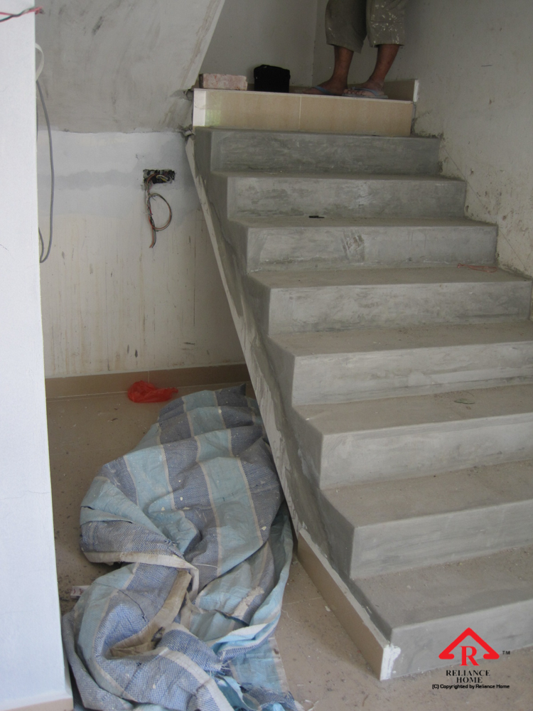 Reliance Home staircase glass under construction photos-31