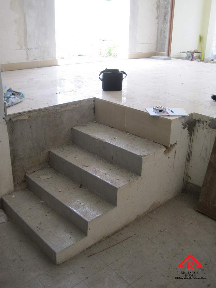 Reliance Home staircase glass under construction photos-32