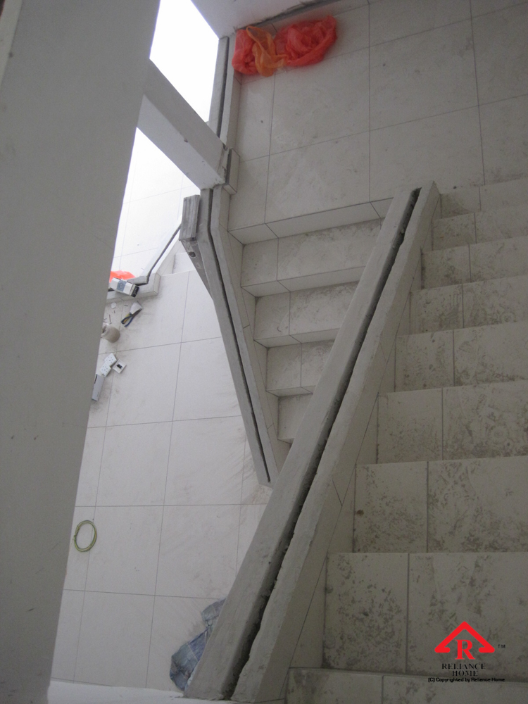 Reliance Home staircase glass under construction photos-34
