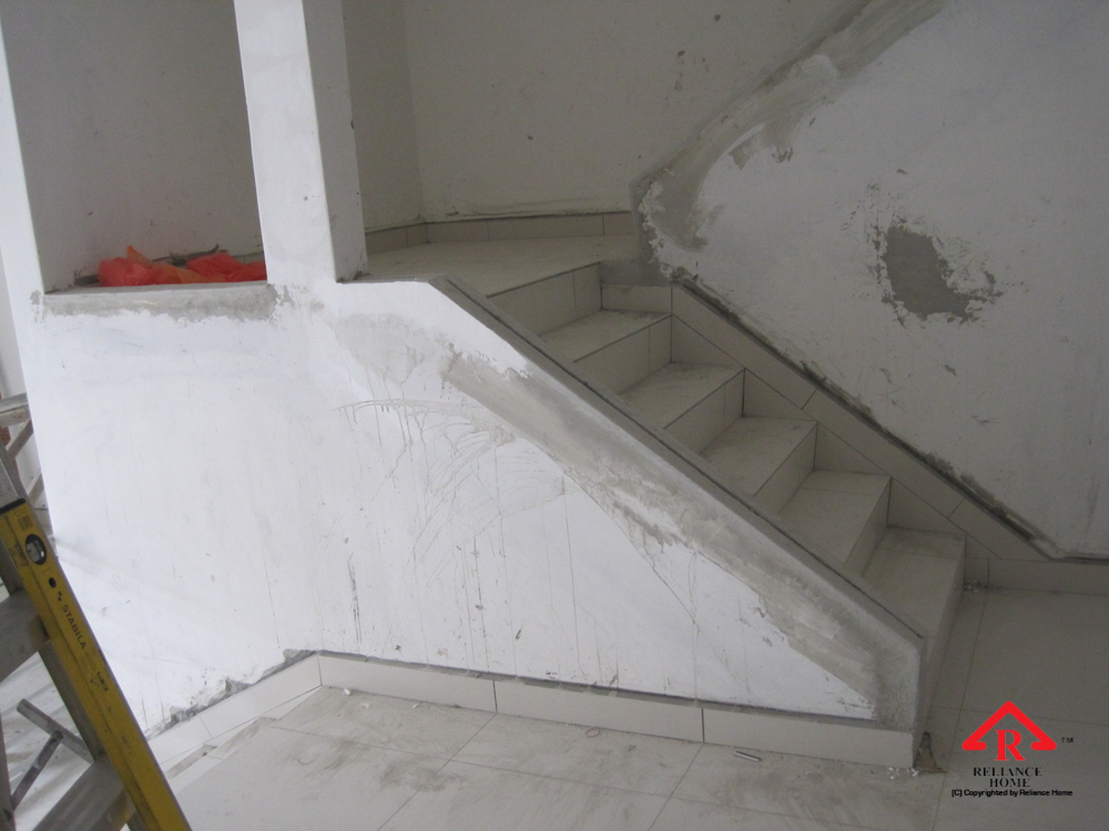 Reliance Home staircase glass under construction photos-35