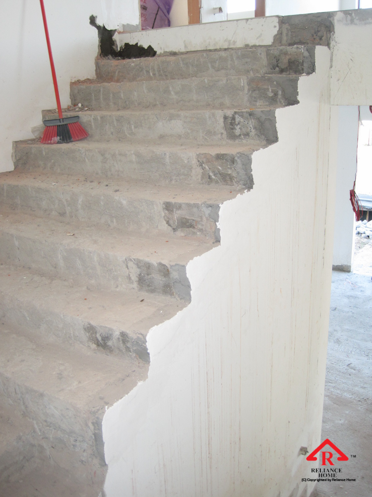 Reliance Home staircase glass under construction photos-4