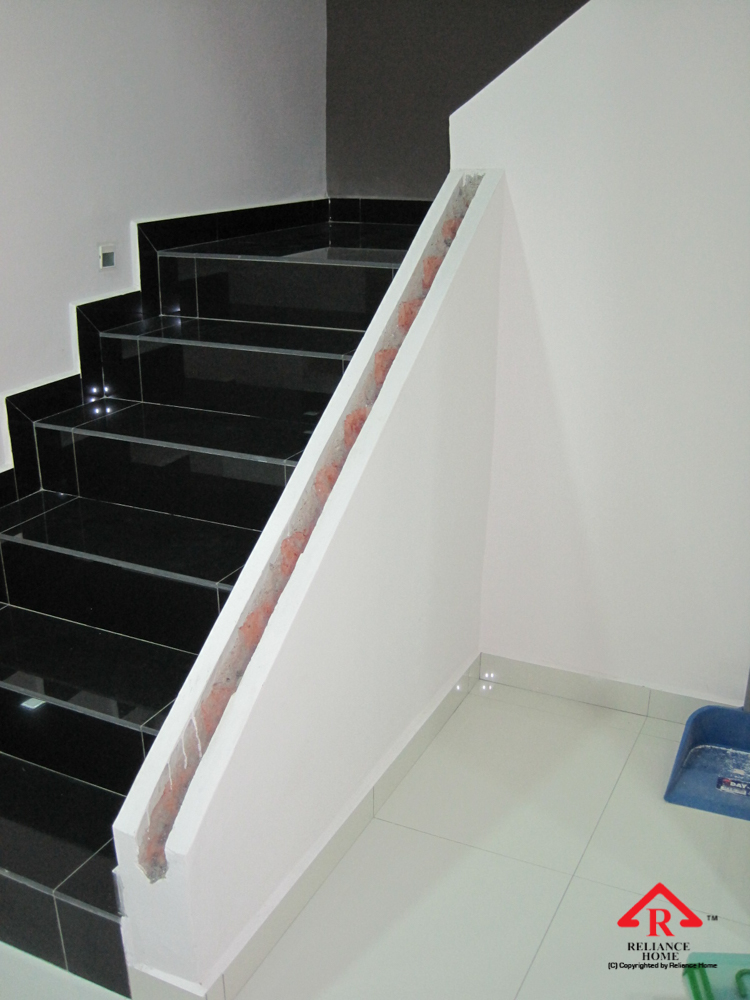 Reliance Home staircase glass under construction photos-6