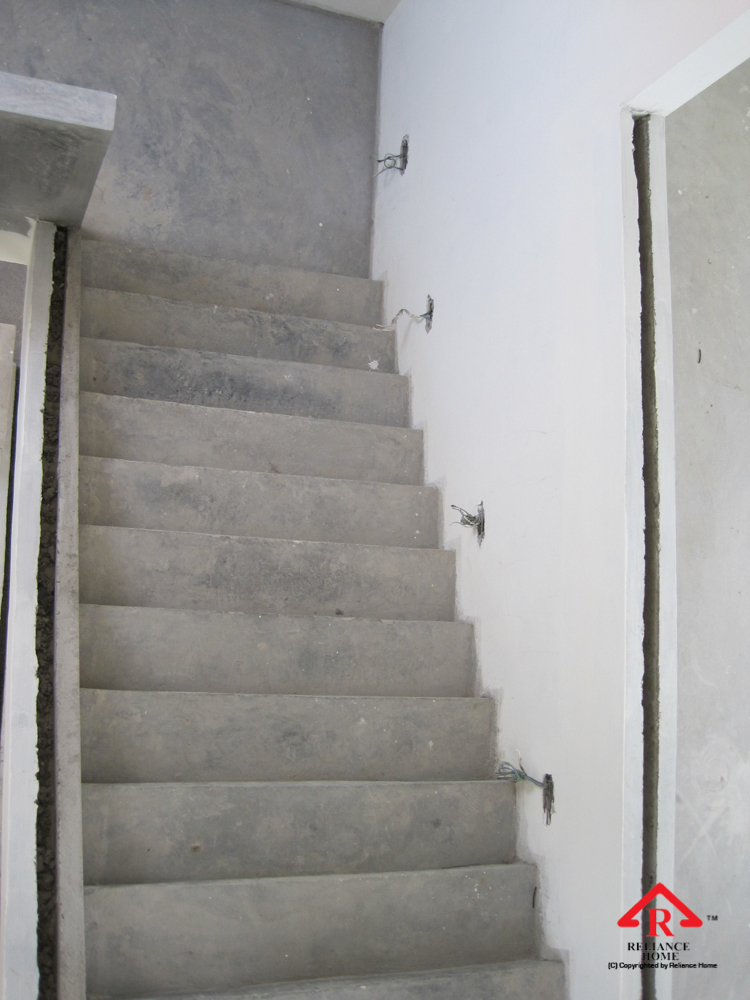 Reliance Home staircase glass under construction photos-9