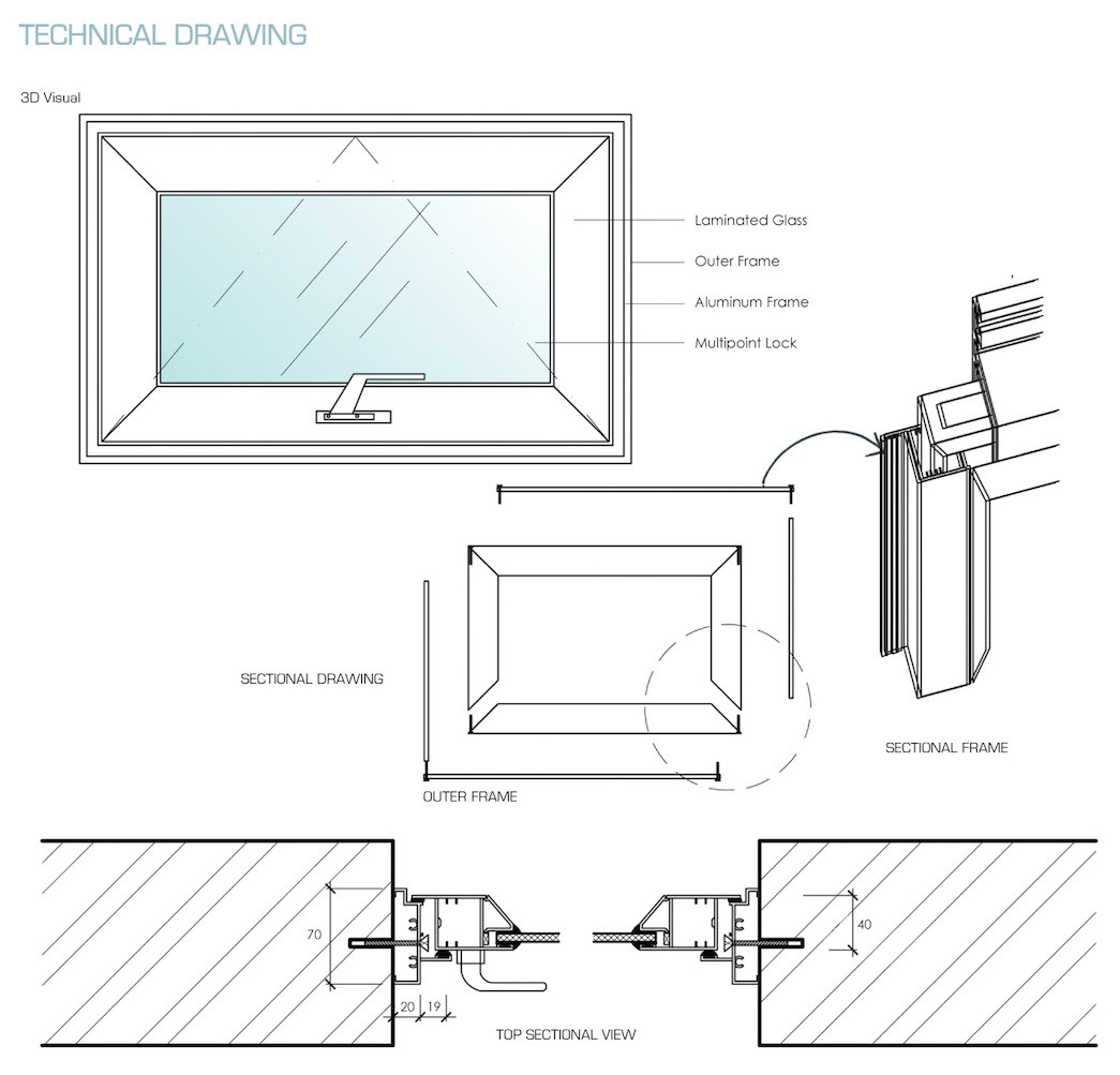 Aluminium Top Hung Window Reliance Home