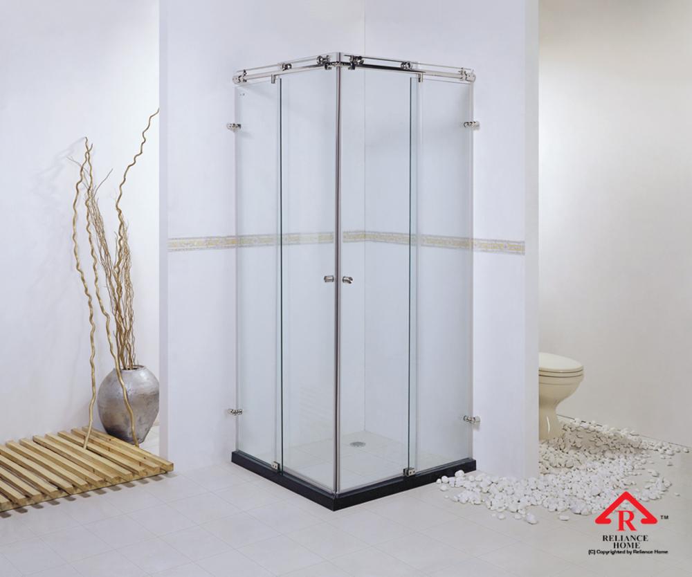 Reliance Home KK-T11 frameless shower screen sliding L shape