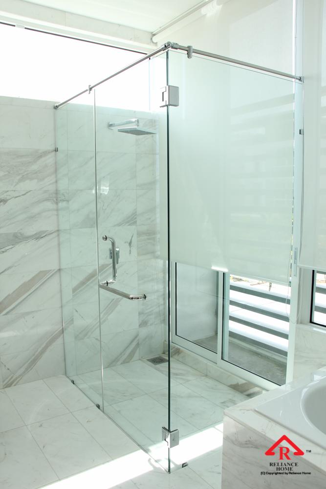 Reliance Home REH400 frameless shower screen-12